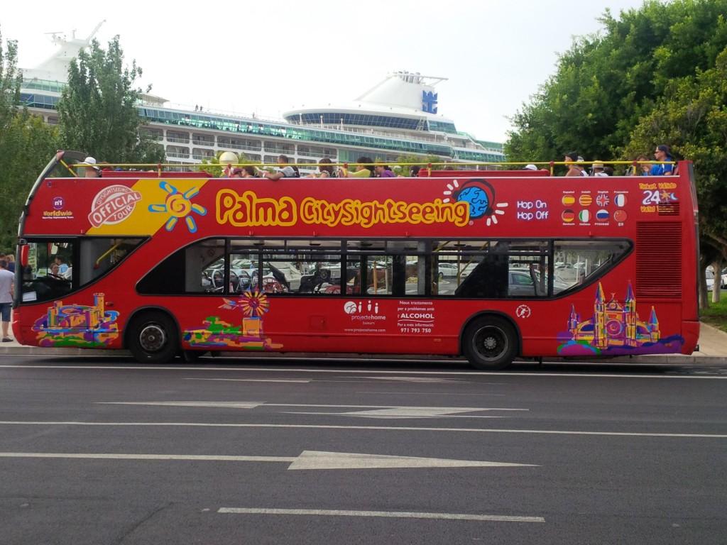 Bus Touristique du port de Palma Majorque