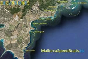 Parcours excursion bateaux rapides