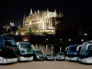 Port de Palma de Majorque, autocars Cathédrale