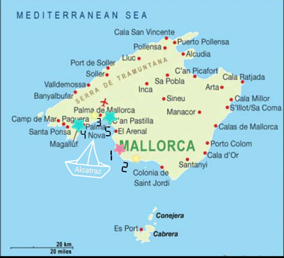 Majorca sailing points of interest