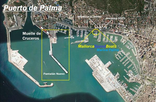 Majorque bateaux rapides, localisation